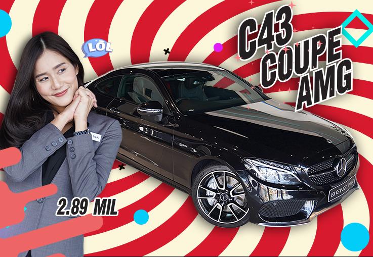 หล่อ หรู แรงง..คันเดียวจบ! C43 Coupe AMG #367แรงม้า Warranty ถึงสค. 2021 เพียง 2.89 ล้าน