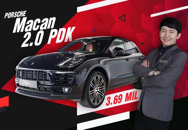 #จองให้ทัน ของดีอยู่ไม่นาน..อย่าคิดนานนะคะ! Porsche Macan 2.0 PDK #สีดำเบาะแดง เพียง 3.69ล้าน
