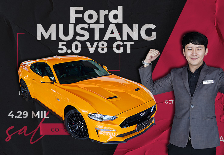Ford Mustang 5.0 V8 GT Coupe #449แรงม้า วิ่งน้อยสุดๆ 5,822 กม. Warranty ถึงเมย. 2025